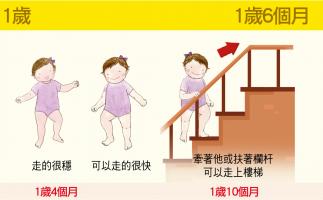 【大致上肢體動作】1歲-1歲6個月